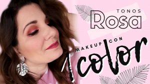 Maquillaje ☝ monocromo👀: ¡Me maquillo con 1️⃣ sólo color! 🌺